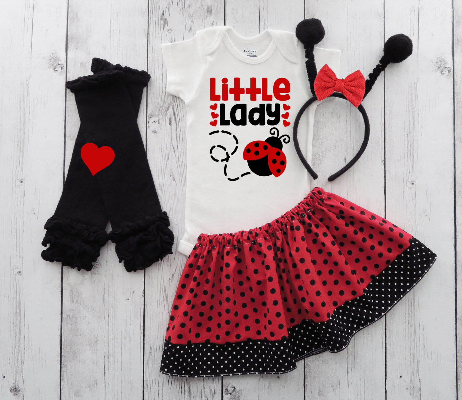 Ladybug Halloween Costume - baby girl halloween, first halloween, comfortable halloween costume, ladybug halloween costume, ladybug costume