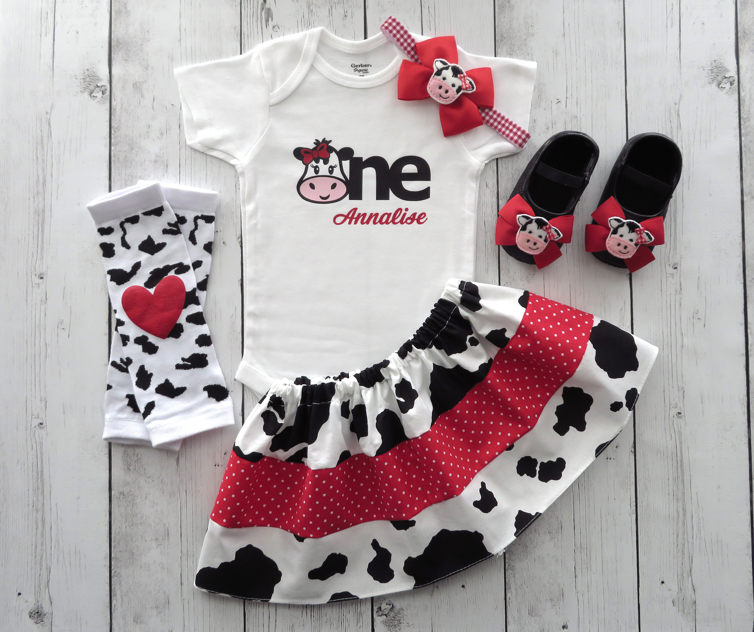 LAST ONE! - Cow First Birthday Outfit for Girl - pink cow birthday, cow one shirt, pink farm animal birthday, barnyard birthday pink